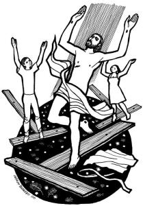 Vio y creyó que Jesús había de resucitar de entre los muertos (Dibujo Cerezo Barredo)